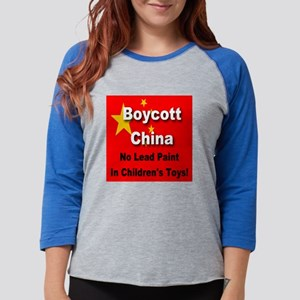 boycott_china_flag_no_lead_pai Womens Baseball Tee