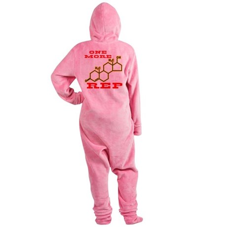 wht_Testosterone_One_More_Rep Footed Pajamas