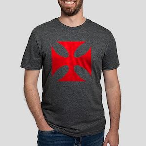 templar cross Mens Tri-blend T-Shirt