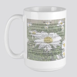 Desiderata Amongst The  Daisy Large Mug