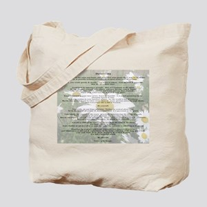 Desiderata Amongst The  Daisy Tote Bag