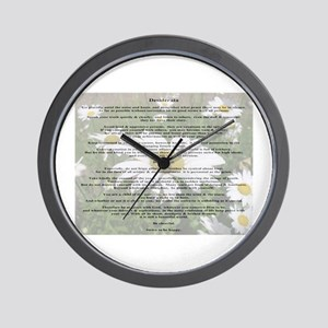 Desiderata Amongst The  Daisy Wall Clock