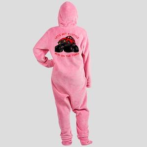 wht_4x4_Mud_Tires_002 Footed Pajamas