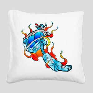 wht_Tattoo_Machine_0280 Square Canvas Pillow