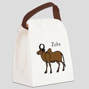 Zebu Canvas Lunch Bag