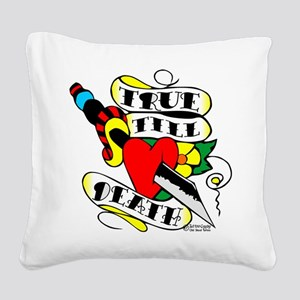 wht_Knife_Thru_Heart_1001 Square Canvas Pillow