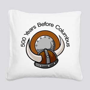 500_Years_Columbus_Viking Square Canvas Pillow