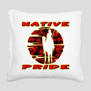 wht_Native_Pride_1002 Square Canvas Pillow