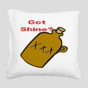 wht_Got_Shine Square Canvas Pillow