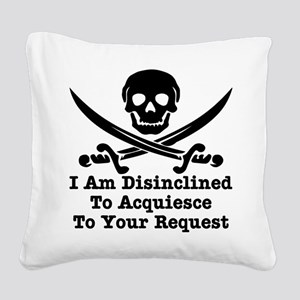 wht_Pirate_Disinclined_Request Square Canvas P