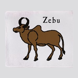 Zebu Throw Blanket