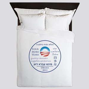 Four More Years of President Obama Queen Duvet
