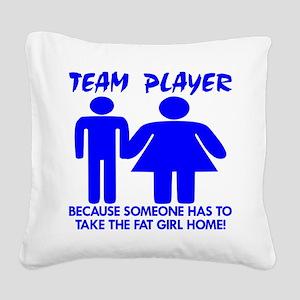 wht_Team_Player_Fat_Girl_Home Square Canvas Pi