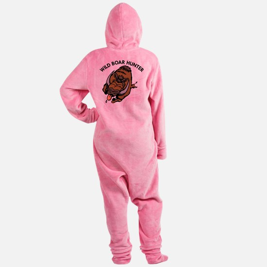 wht_Wild_Boar_Hunter.png Footed Pajamas