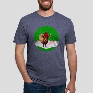 MerryXmasButtercupOrn Mens Tri-blend T-Shirt