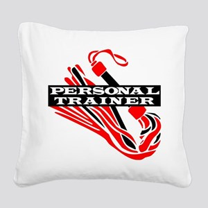 Flogger_Personal_Trainer Square Canvas Pillow