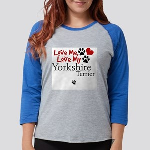 lovemy-yorkshireterrier.png Womens Baseball Tee