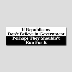 Anti-Republican Bumper Sticker Car Magnet 10 x 3
