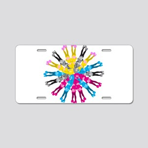Colorful Cosplay Girls Aluminum License Plate