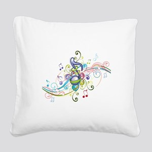 Music in the air Square Canvas Pillow