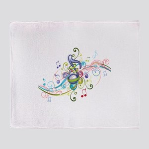 Music in the air Throw Blanket