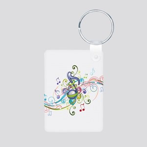 Music in the air Aluminum Photo Keychain