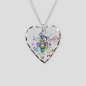 Music in the air Necklace Heart Charm