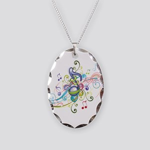 Music in the air Necklace Oval Charm