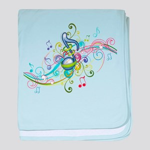 Music in the air baby blanket