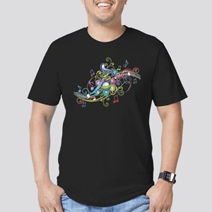 Music in the air Men's Fitted T-Shirt (dark)