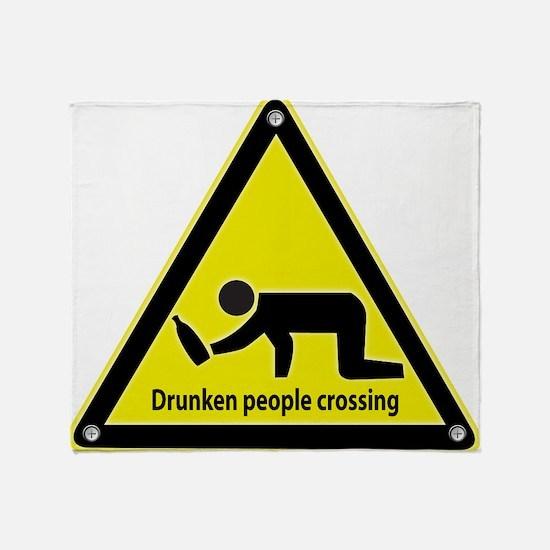 Drunken People Crossing Throw Blanket