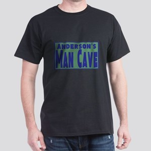 Personalized Man Cave Dark T-Shirt