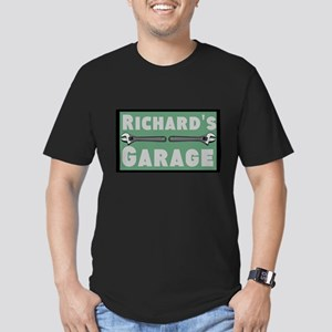 Personalized Garage Men's Fitted T-Shirt (dark)