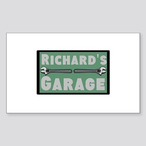 Personalized Garage Sticker (Rectangle)