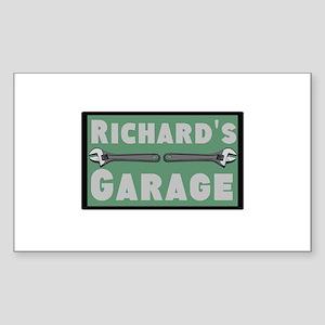Personalized Garage Sticker (Rectangle)