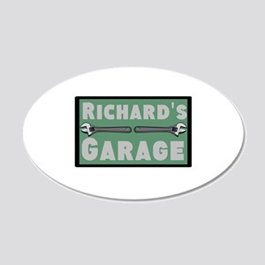 Personalized Garage 20x12 Oval Wall Decal