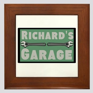Personalized Garage Framed Tile