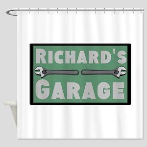 Personalized Garage Shower Curtain