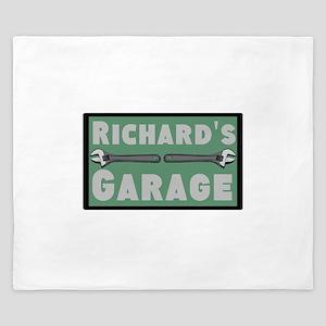Personalized Garage King Duvet