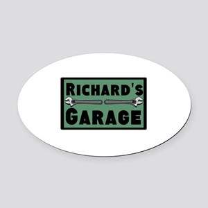 Personalized Garage Oval Car Magnet
