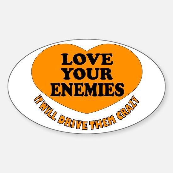 LOVE EVERYONE Sticker (Oval)
