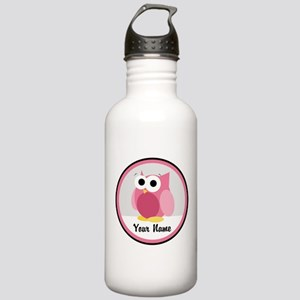 Funny Cute Pink Owl Stainless Water Bottle 1.0L