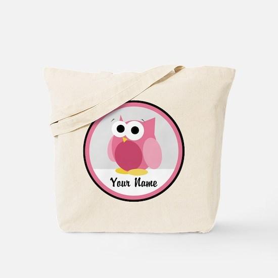 Funny Cute Pink Owl Tote Bag