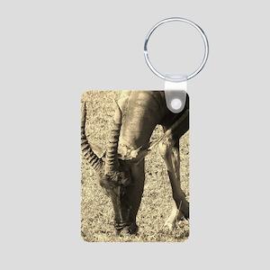 sepia topi grazing Aluminum Photo Keychain