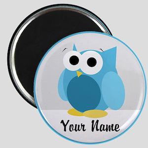 Funny Cute Blue Owl Magnet