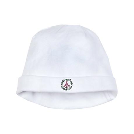 Yule Flower Peace baby hat