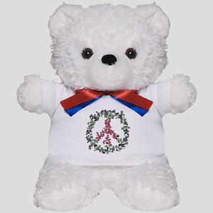 Yule Flower Peace Teddy Bear