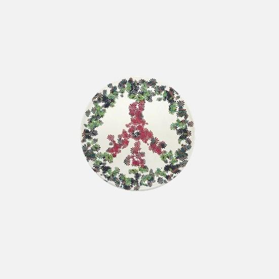 Yule Flower Peace Mini Button