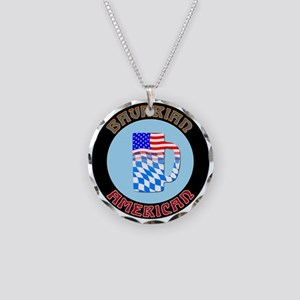 Bavarian American Beer Stein Necklace Circle Charm