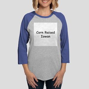 corn raised iowan Womens Baseball Tee